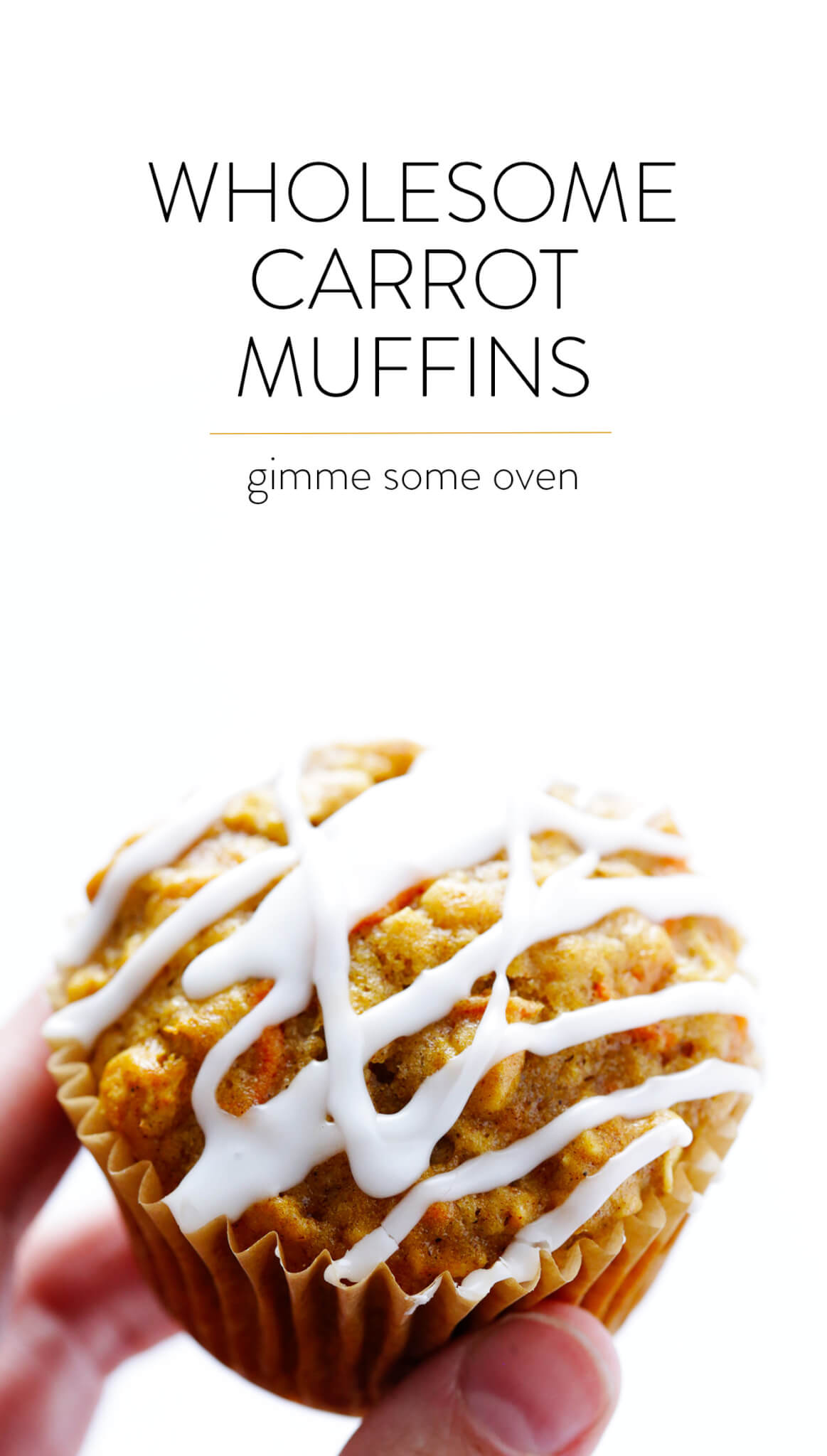 These Wholesome Carrot Muffins are naturally sweetened with honey, easy to make, and SO tasty! | gimmesomeoven.com