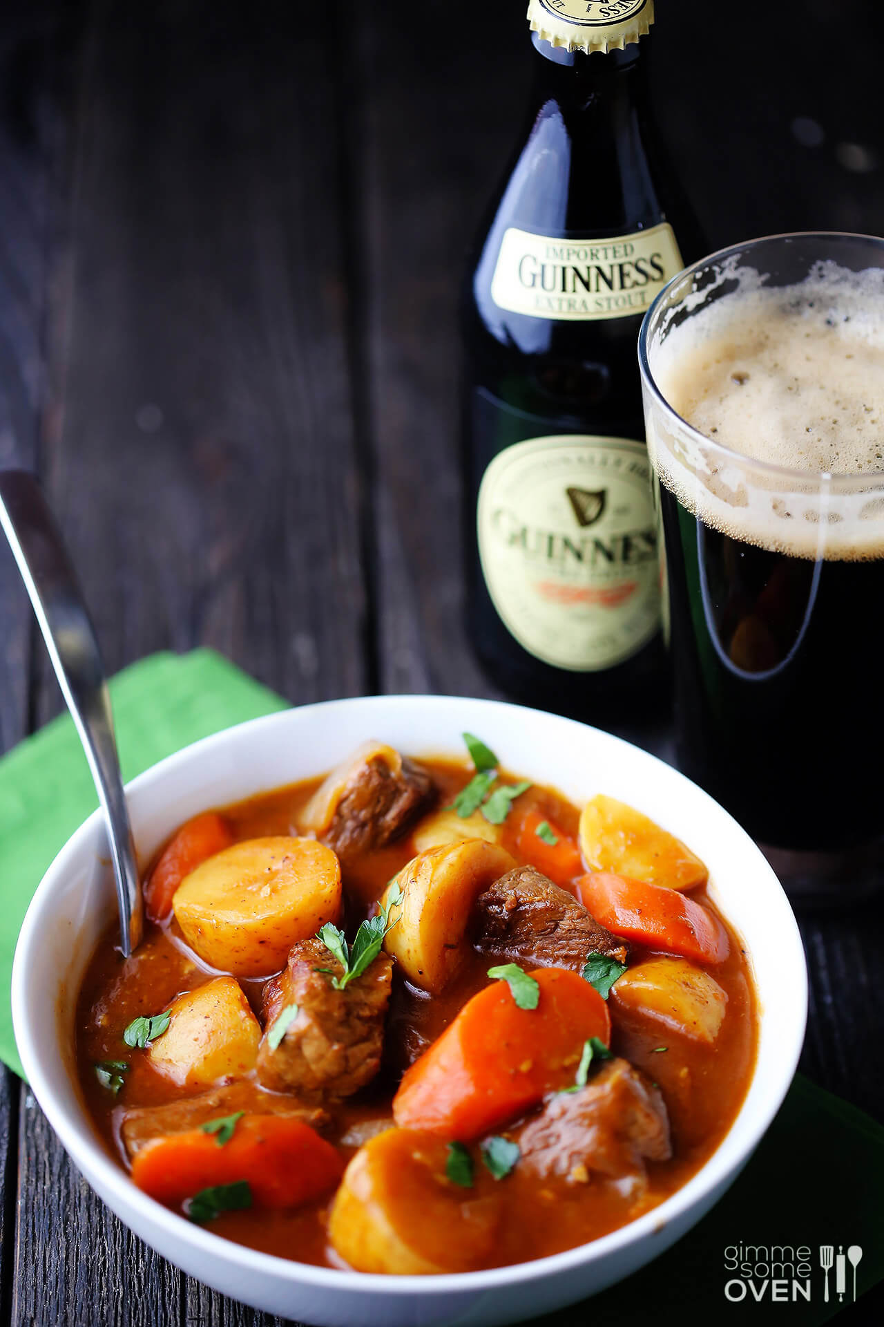My original photo for Guinness Beef Stew (2013).