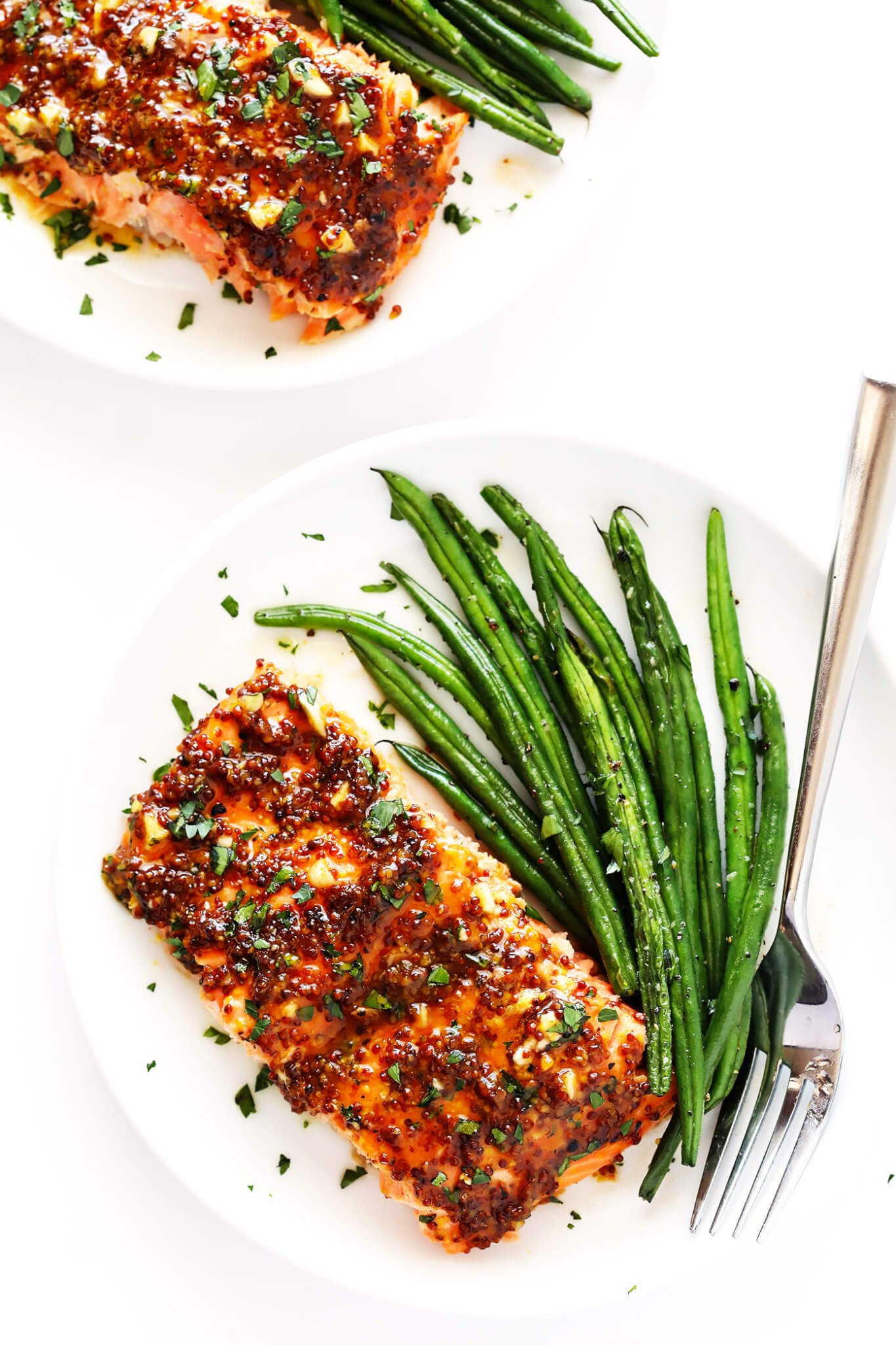 Grilled or Baked Honey Mustard Salmon