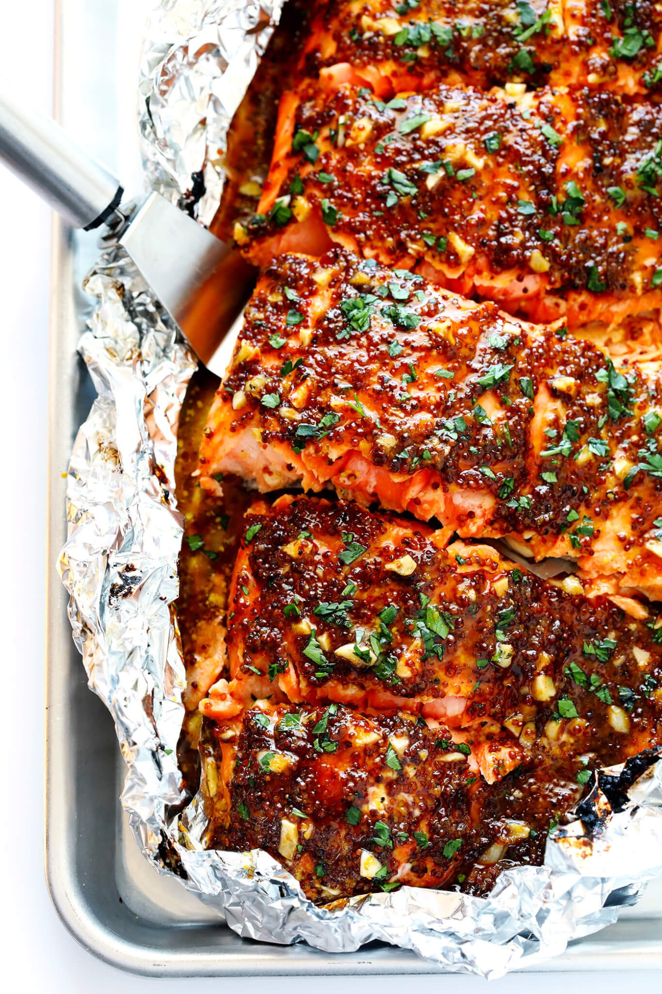 Honey Mustard Salmon In Foil Gimme Some Oven