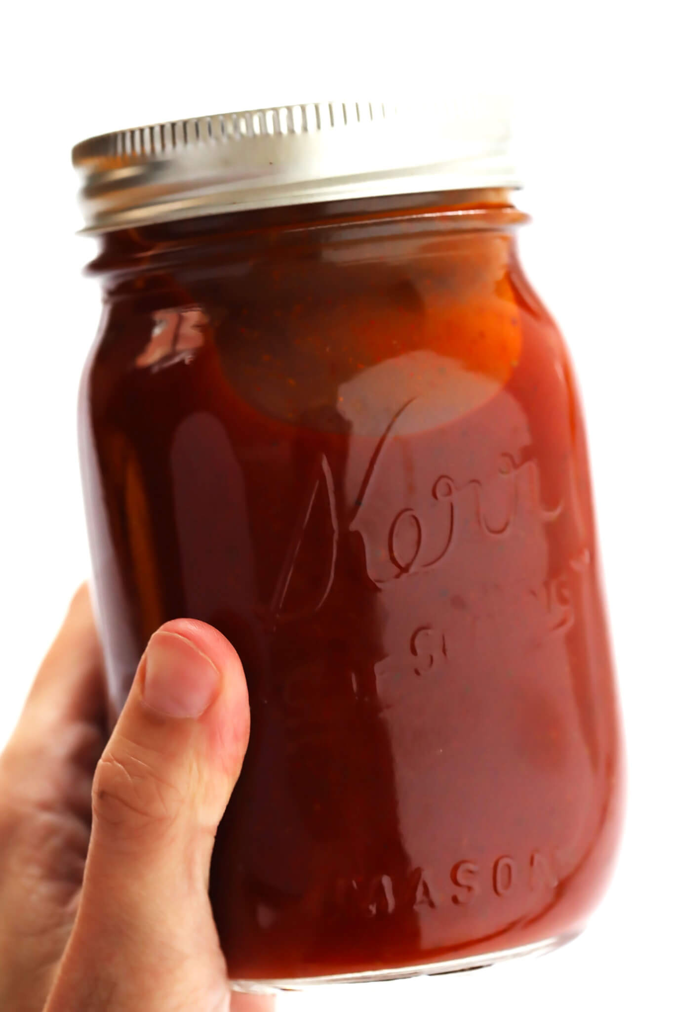 My favorite homemade BBQ sauce recipe! It's quick and easy to make, and made with ingredients I feel good about. | gimmesomeoven.com