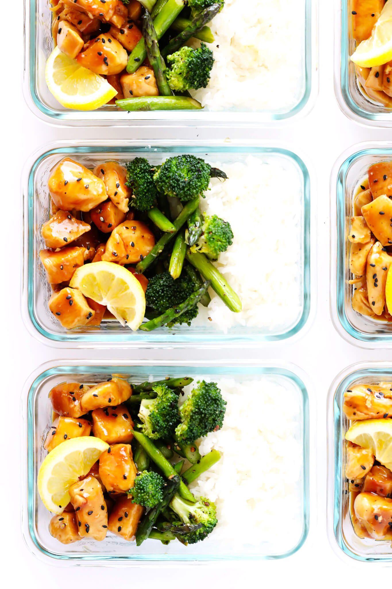 Honey Lemon Chicken Bowls Meal Prep Gimme Some Oven