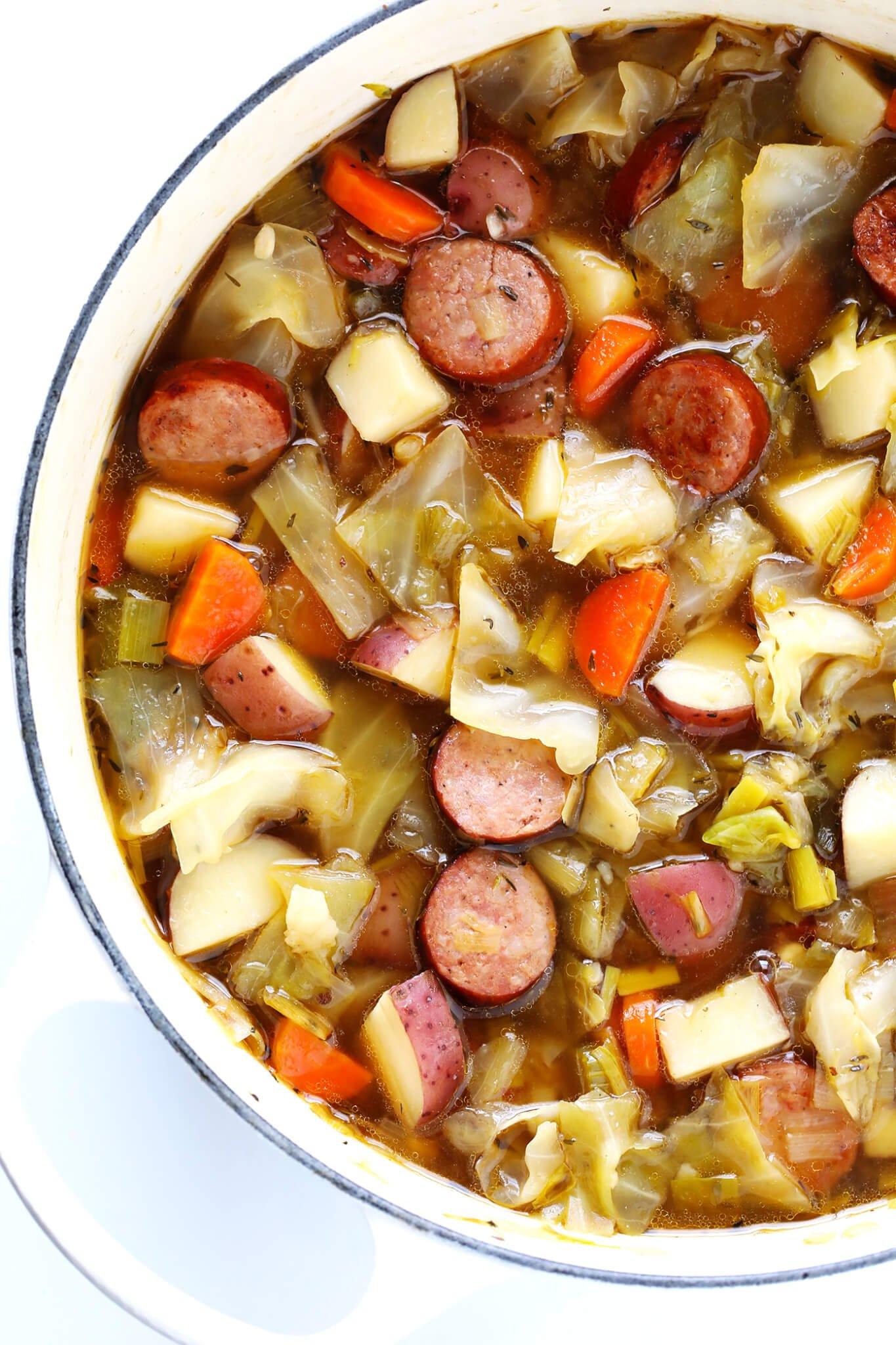 How to Make Kielbasa and Cabbage Soup