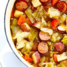 Cabbage, Sausage and Potato Soup Recipe