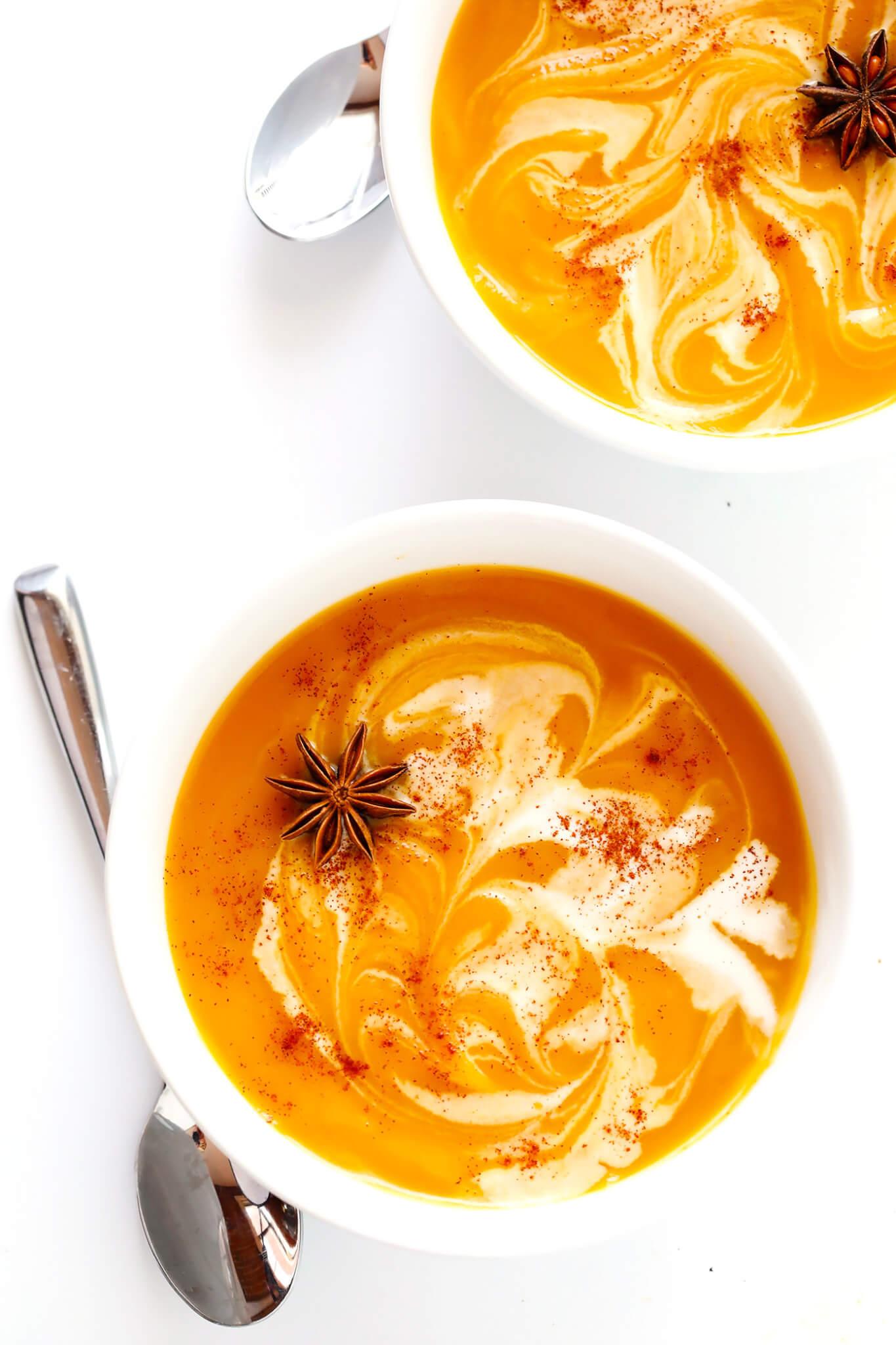 Vegetarian Chai Butternut Squash Soup Recipe