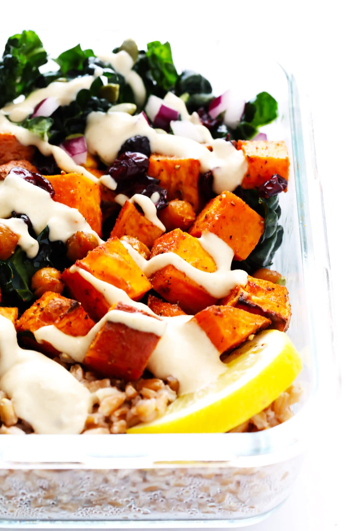 Roasted sweet potato chickpea and kale salad bowls gimme some oven actually i made this recipe twice this past week forumfinder Images