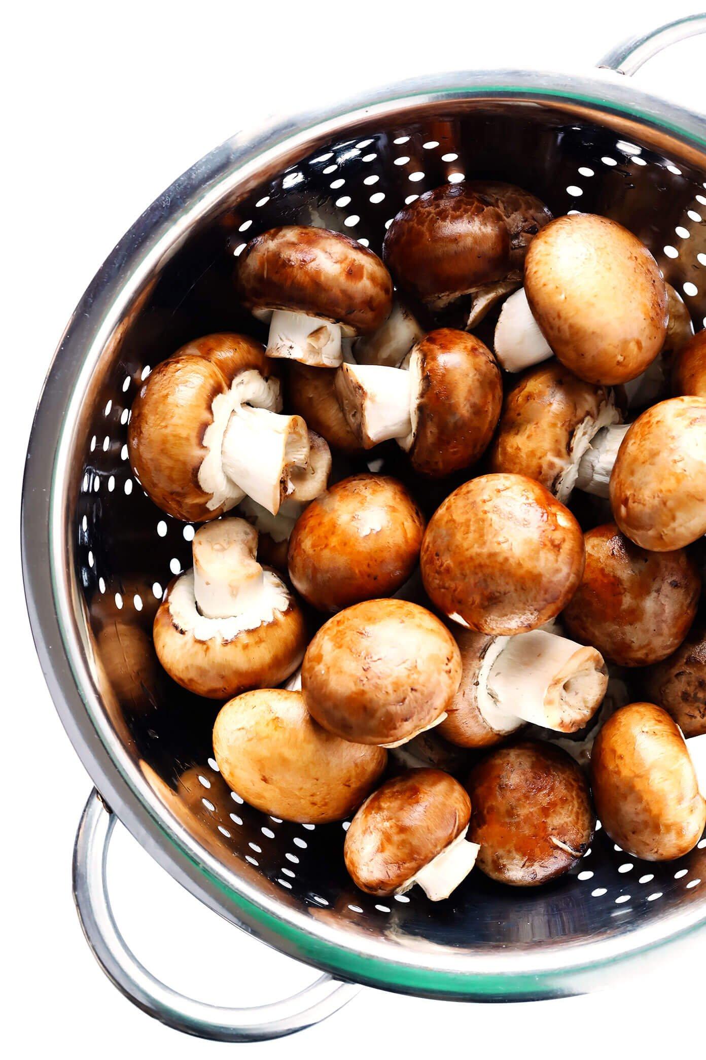 Tigela de Cogumelos Baby Bella para Strogonoff de Carne