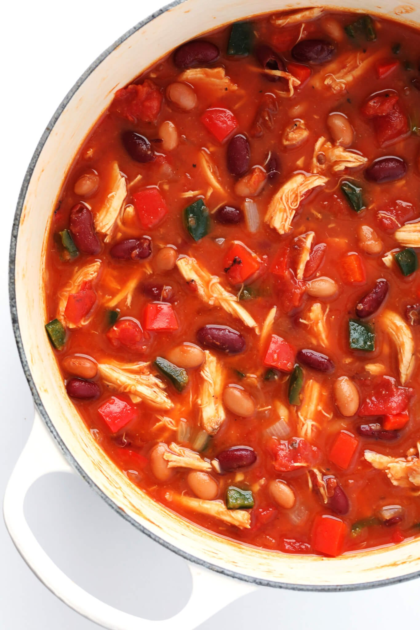 This 20-Minute Chipotle Chicken Chili recipe is quick and easy to prepare, naturally gluten-free, and made with ingredients you can feel good about. Feel free to top with avocado, cheese, cilantro, or whatever sounds good. And of course, sub in ground turkey or beef in place of chicken, if you'd like.