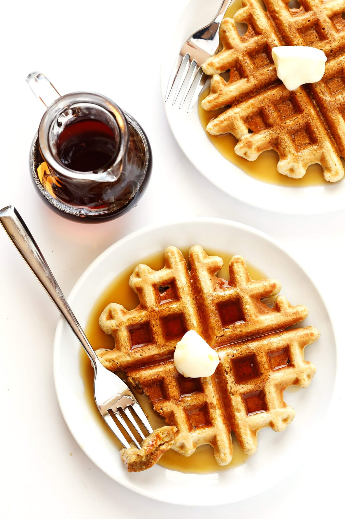 This easy Gluten-Free Waffles recipe is made with everyday ingredients you probably already have on hand (like lots of old-fashioned oats), and it's the perfect easy recipe for breakfast or brunch!