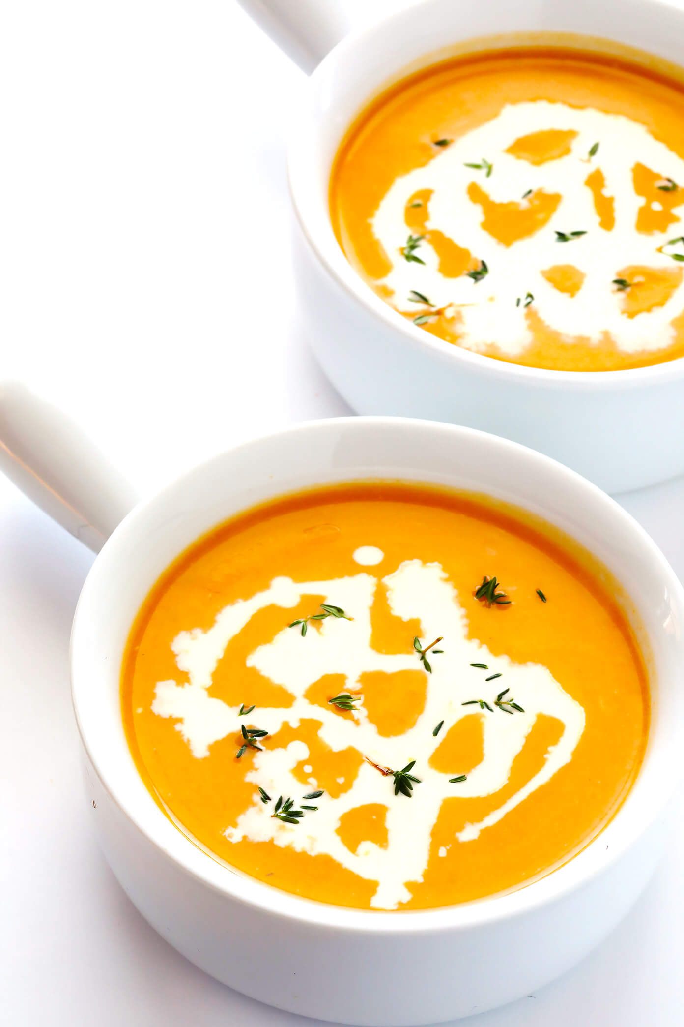 Seriously the BEST Instant Pot Butternut Squash Soup recipe! It's easy to make in about 30 minutes from start to finish, it's naturally gluten-free and vegetarian and vegan, and it's packed with feel-good veggies and flavors that everyone will love. My kind of fall comfort food!