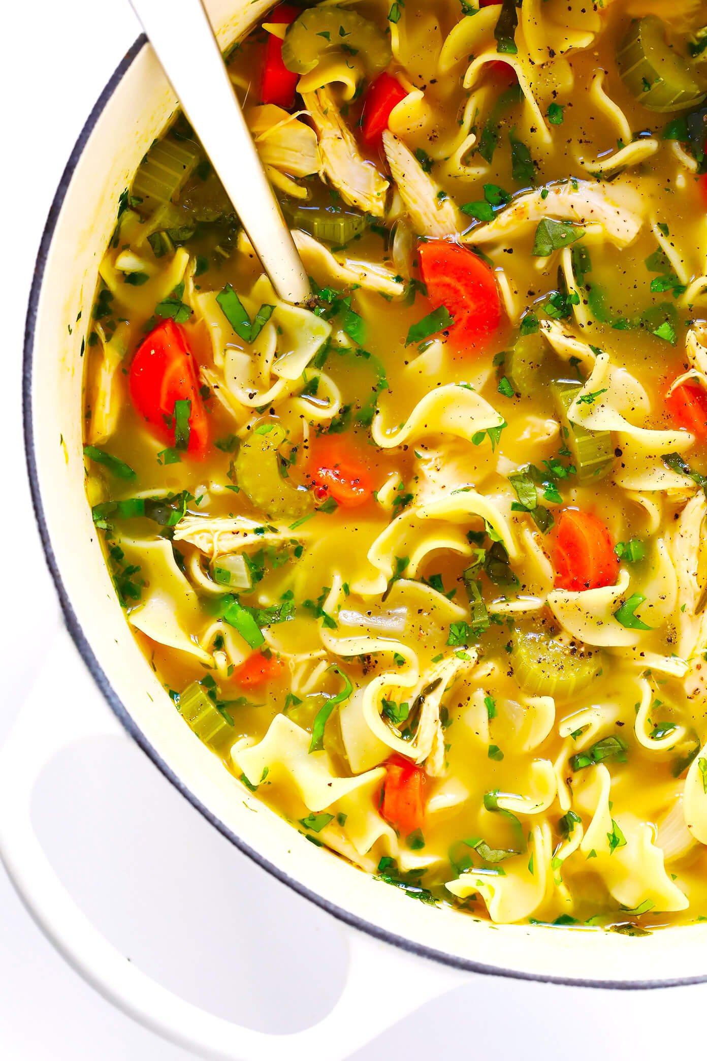 Herb-Loaded Chicken Noodle Soup Recipe