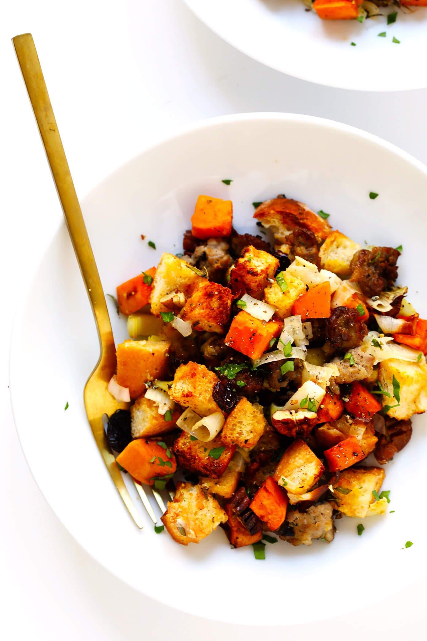 Sweet Potato Sausage Stuffing Recipe