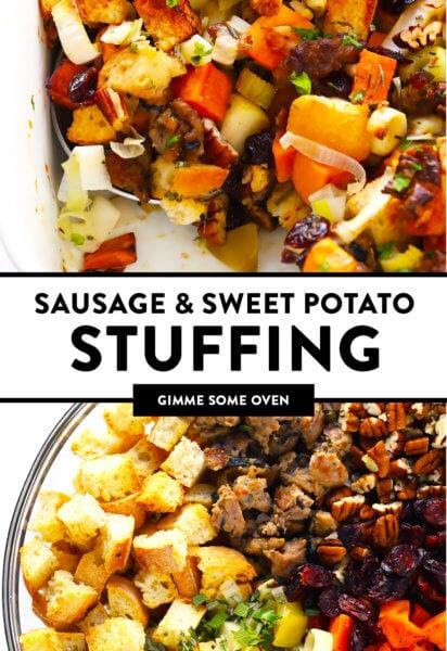 Sausage and Sweet Potato Stuffing