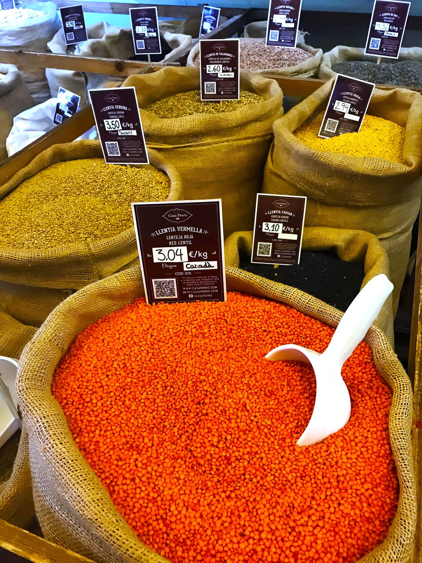 Shopping for lentils for this Lemony Lentil Soup recipe