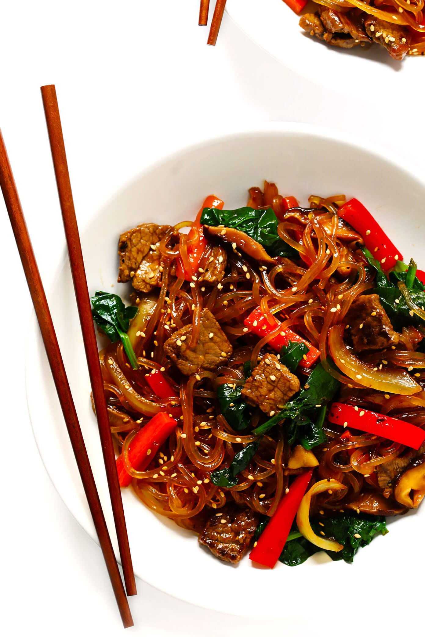 The Best Japchae (Korean Noodle Stir-Fry)  Gimme Some Oven