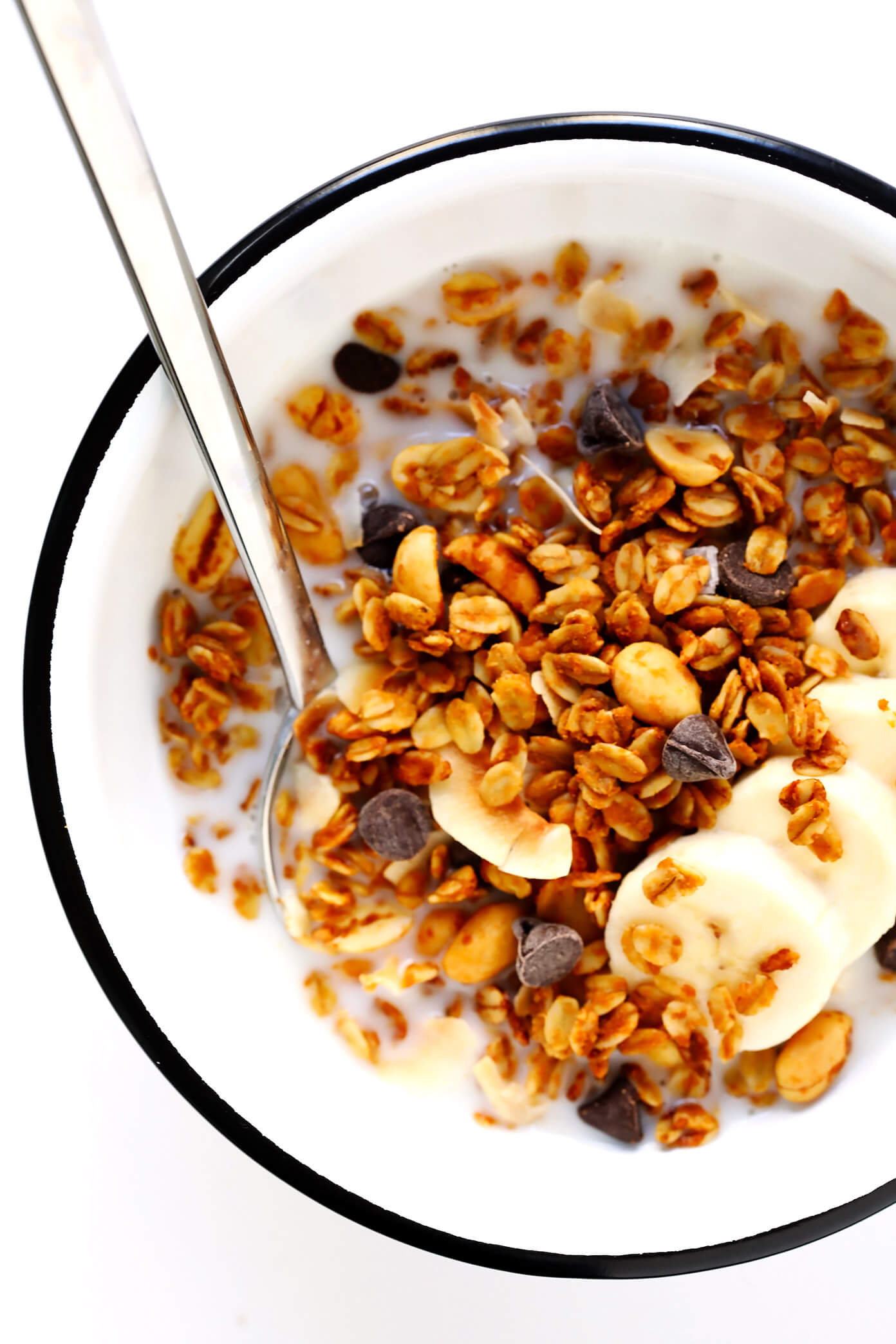 Peanut Butter Granola in Bowl