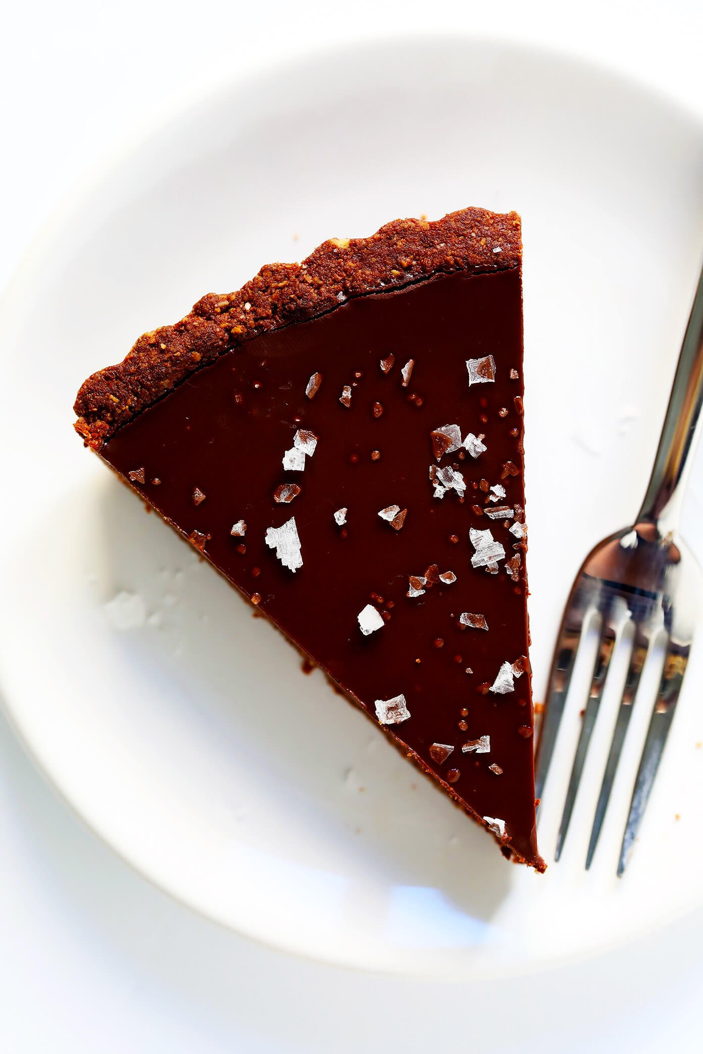 Salted Dark Chocolate Tart