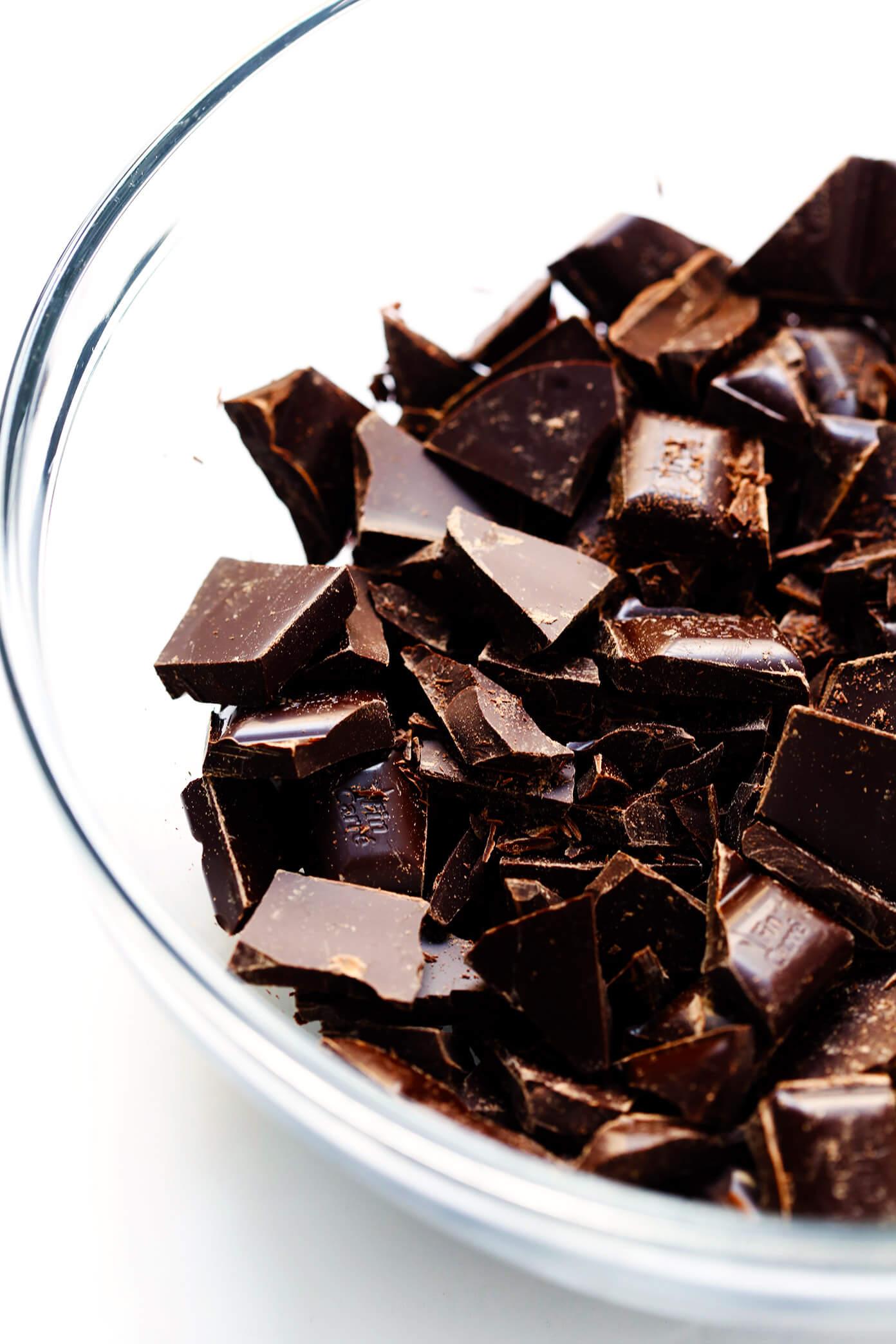 Chopped Dark Chocolate Bars