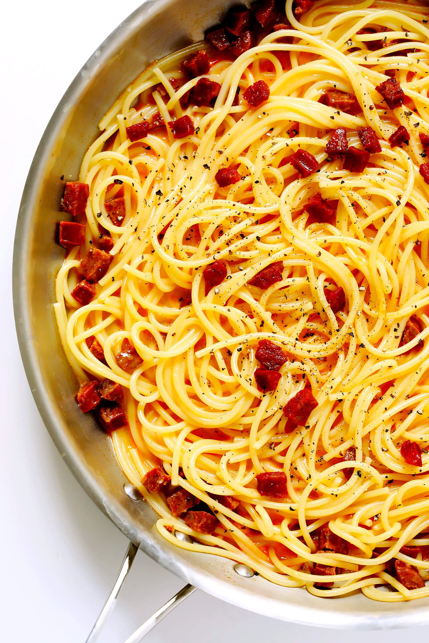Spaghetti Carbonara with Spanish Chorizo