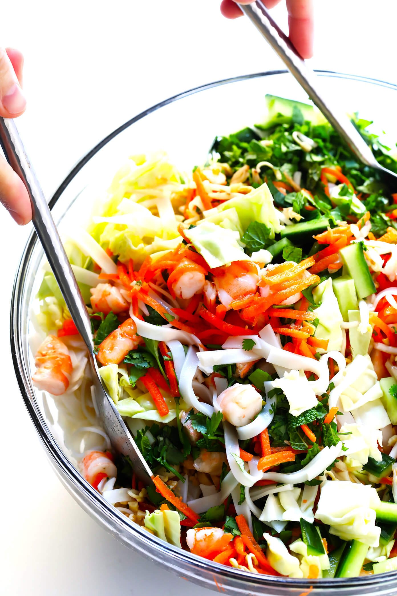 Tossing the Vietnamese Spring Roll Salad