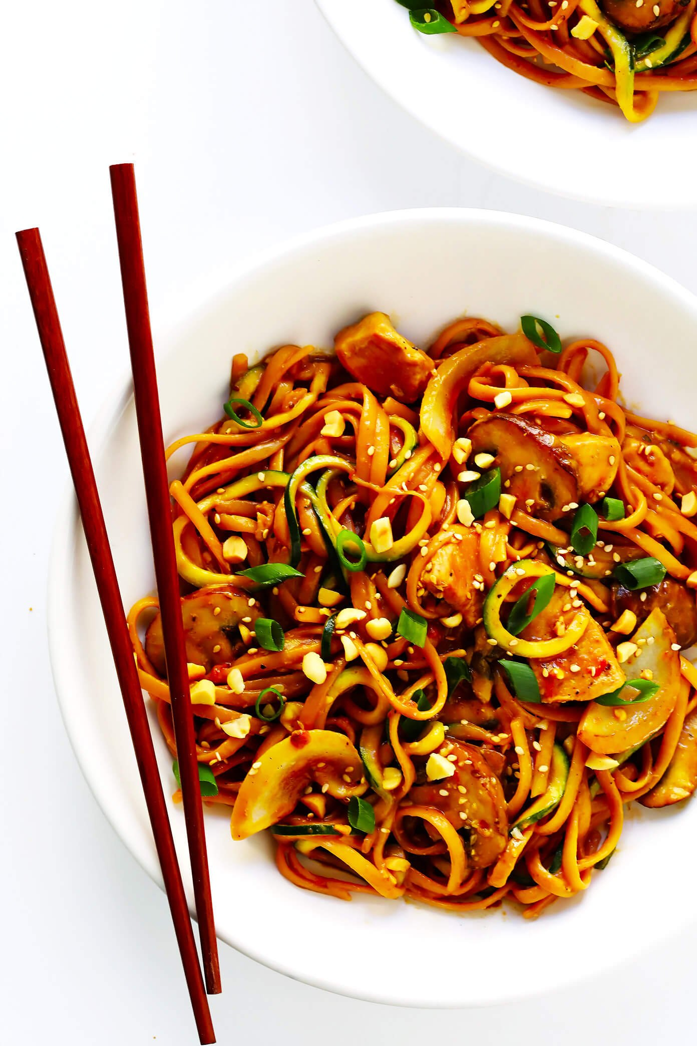 Kung Pao Chicken Noodle Stir-Fry recipe