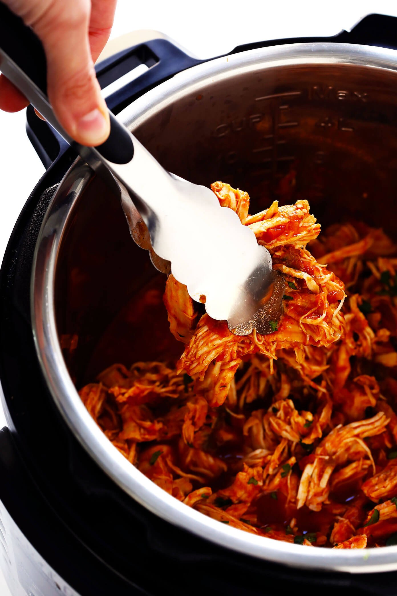 Pressure Cooker Shredded Mexican Chicken