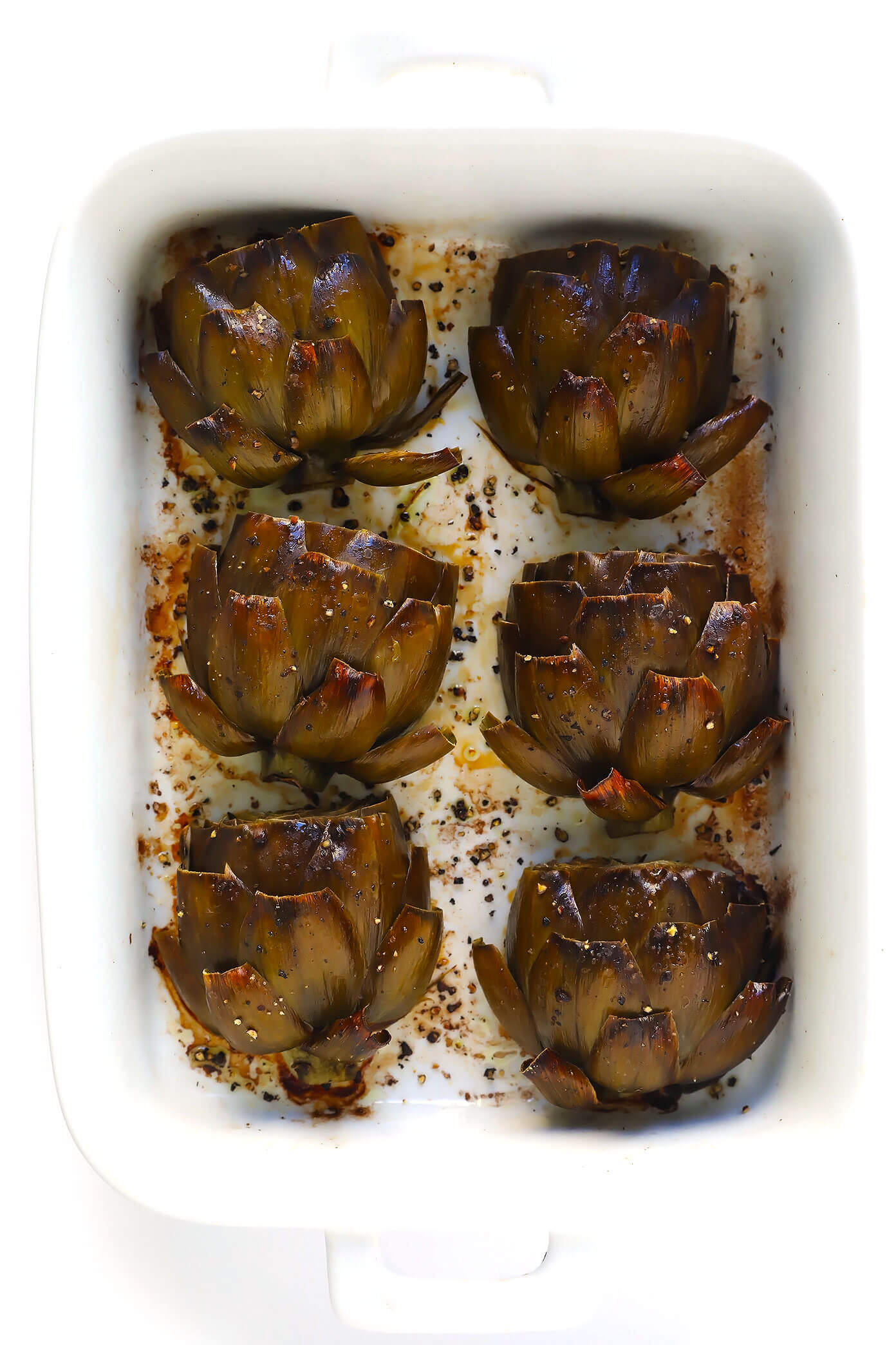 The Most Amazing Oven Roasted Artichokes