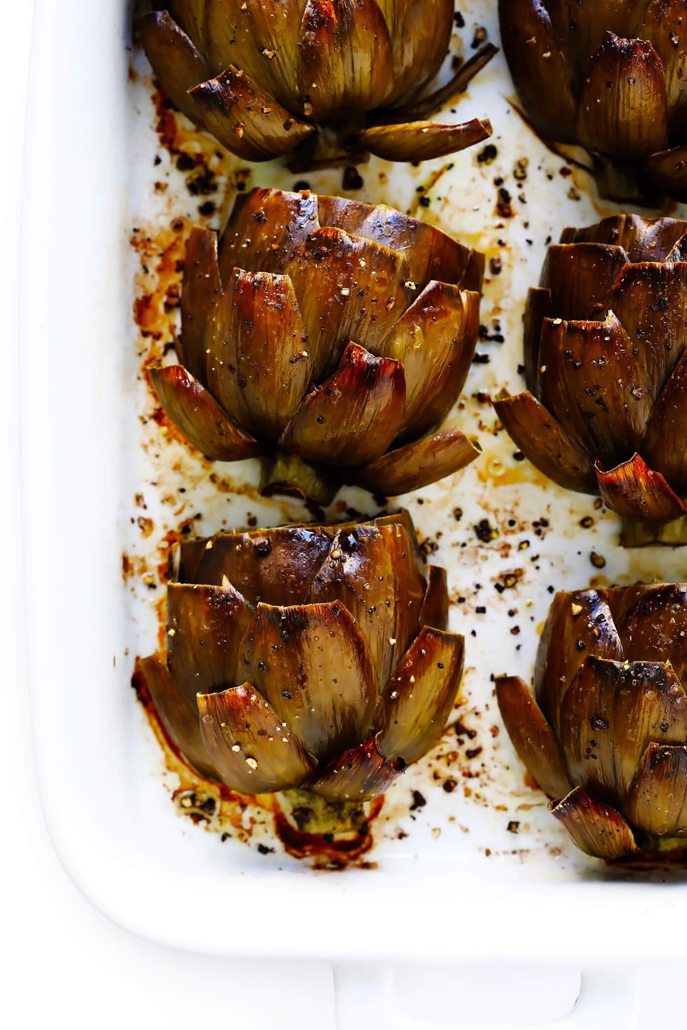 The Most Amazing Roasted Artichokes Recipe