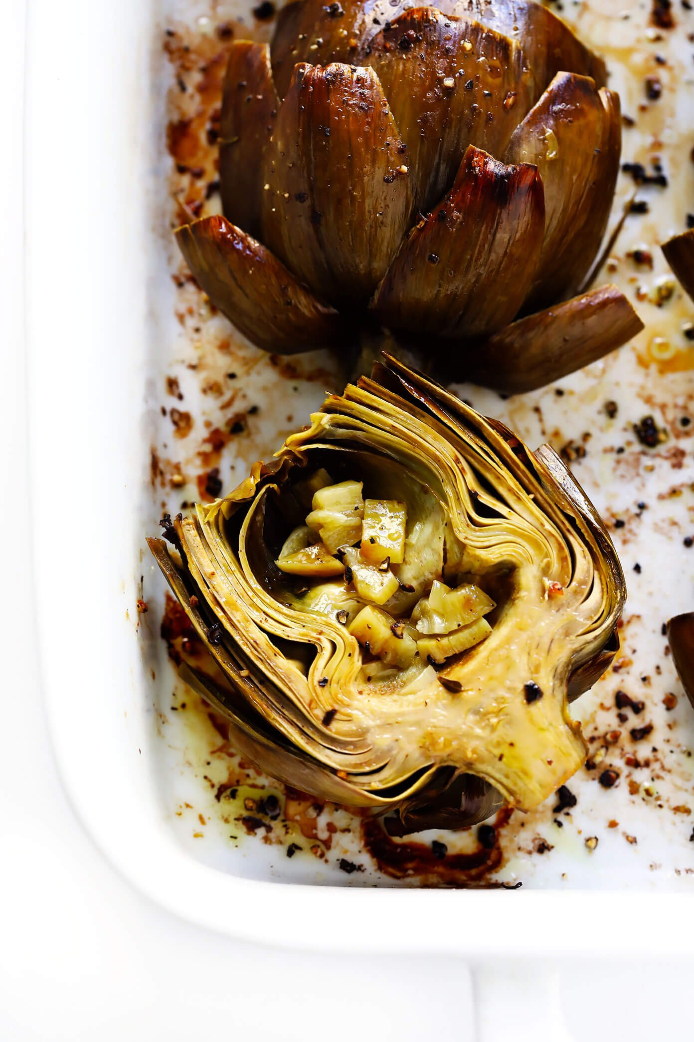 How To Eat Roasted Artichokes (with Roasted Garlic)