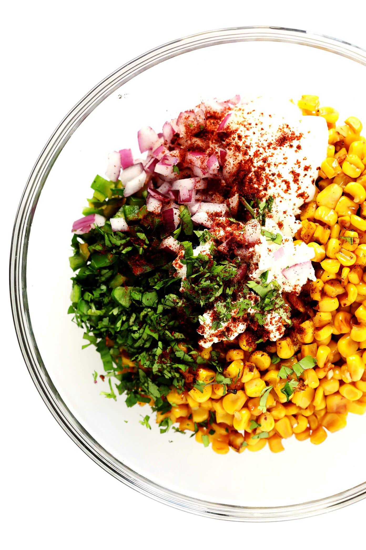 Elote (Mexican Street Corn) Dip Ingredients