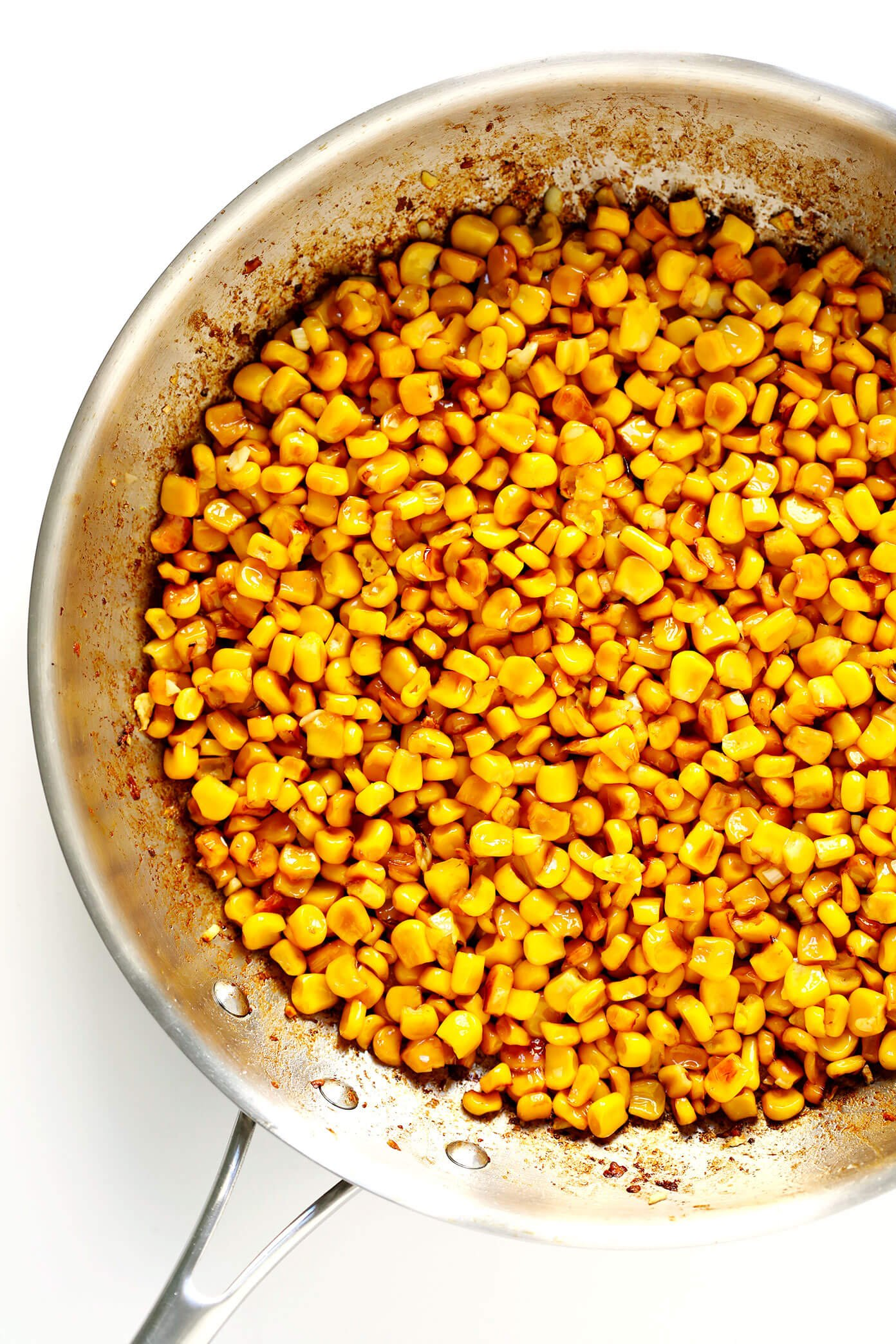 Pan-Roasted Corn for Elote Dip