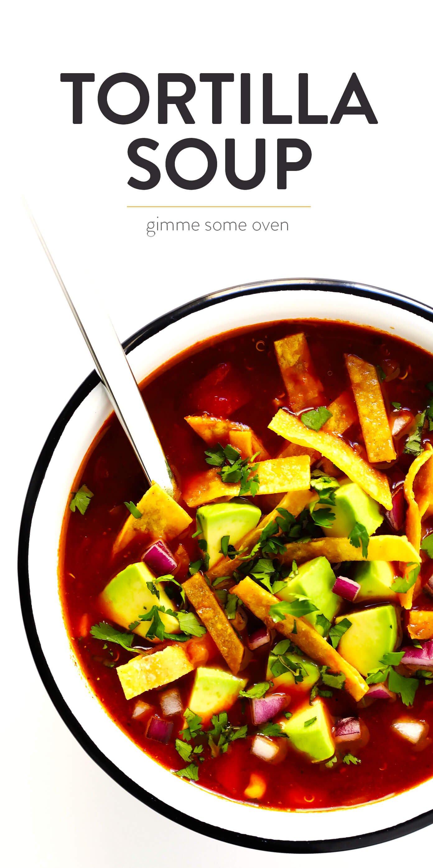 How To Make Vegetarian Tortilla Soup