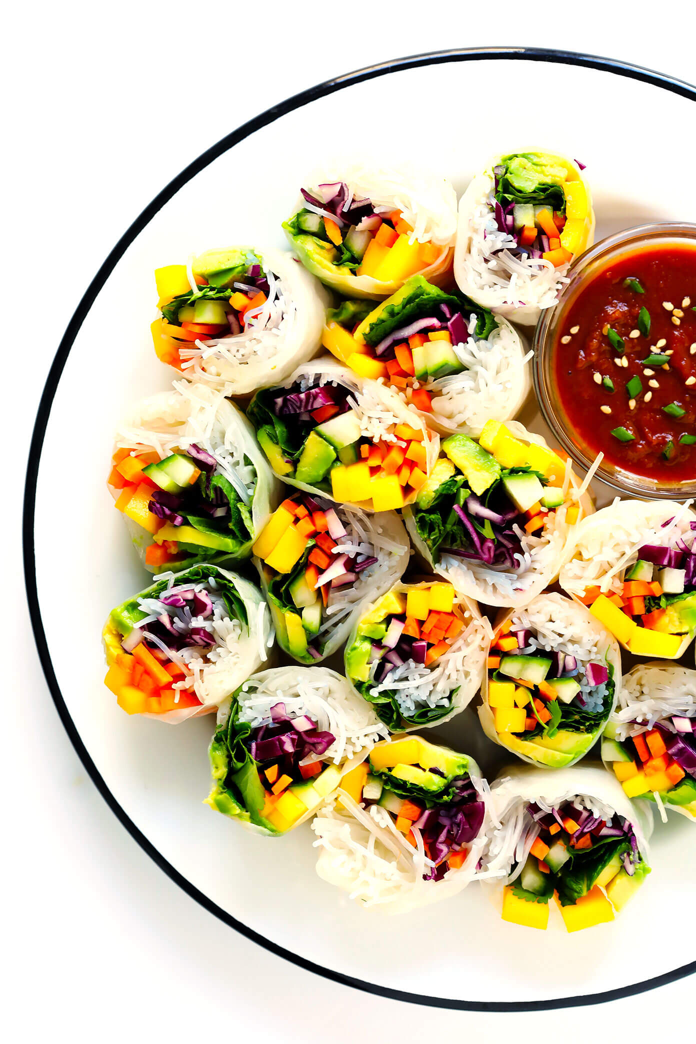 Mango Avocado Spring Rolls Recipe
