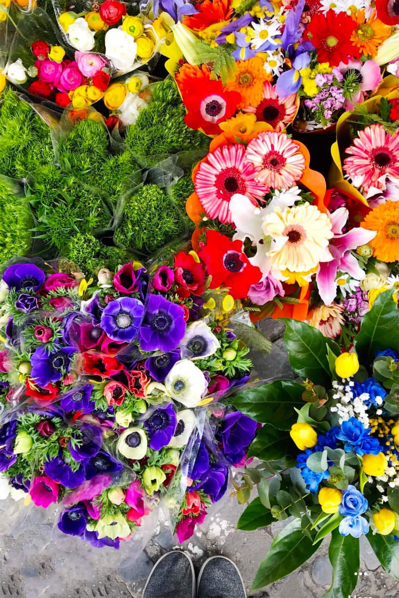 Flower Market in Rome