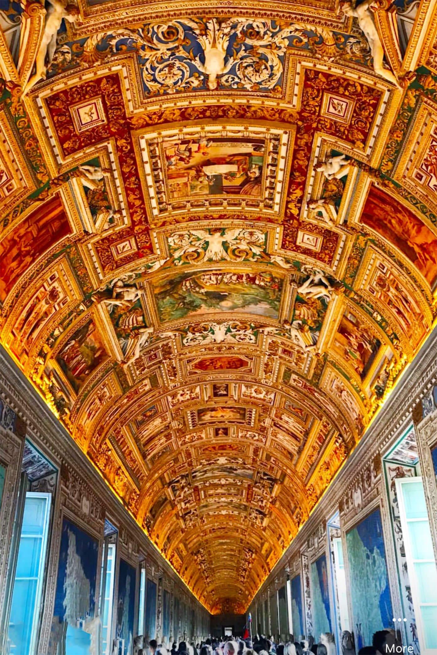 Vatican Museum Ceiling in Rome