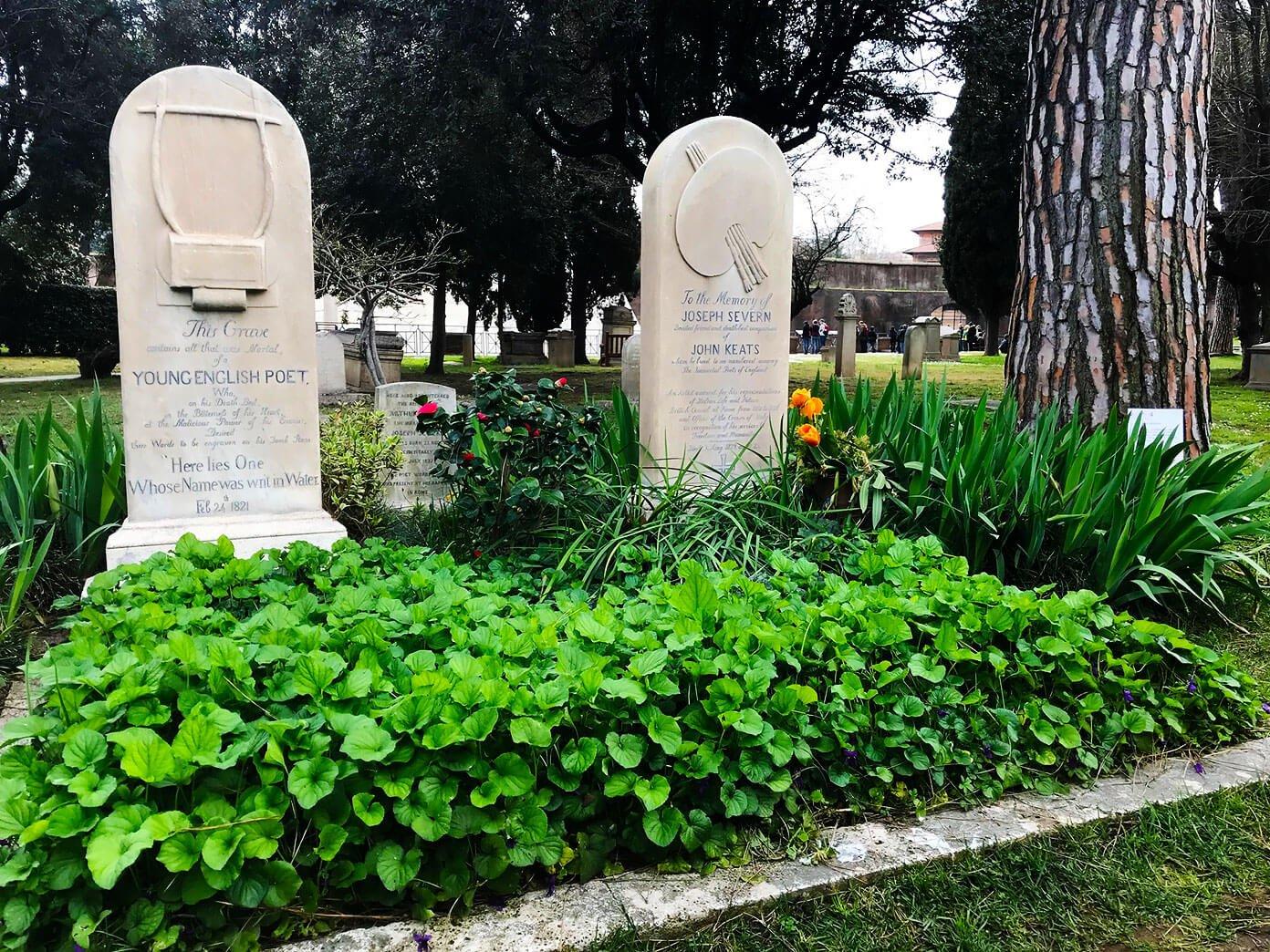 John Keats' Grave in Rome