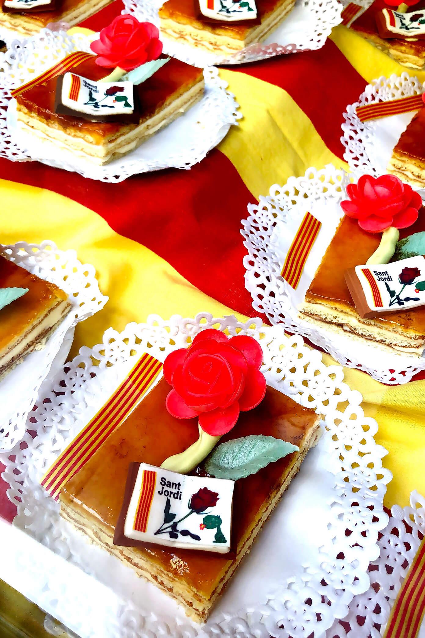 Sant Jordi Desserts in Barcelona