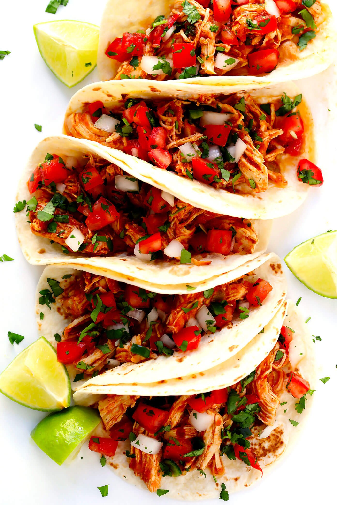Mexican Shredded Chicken Tacos with Pico de Gallo