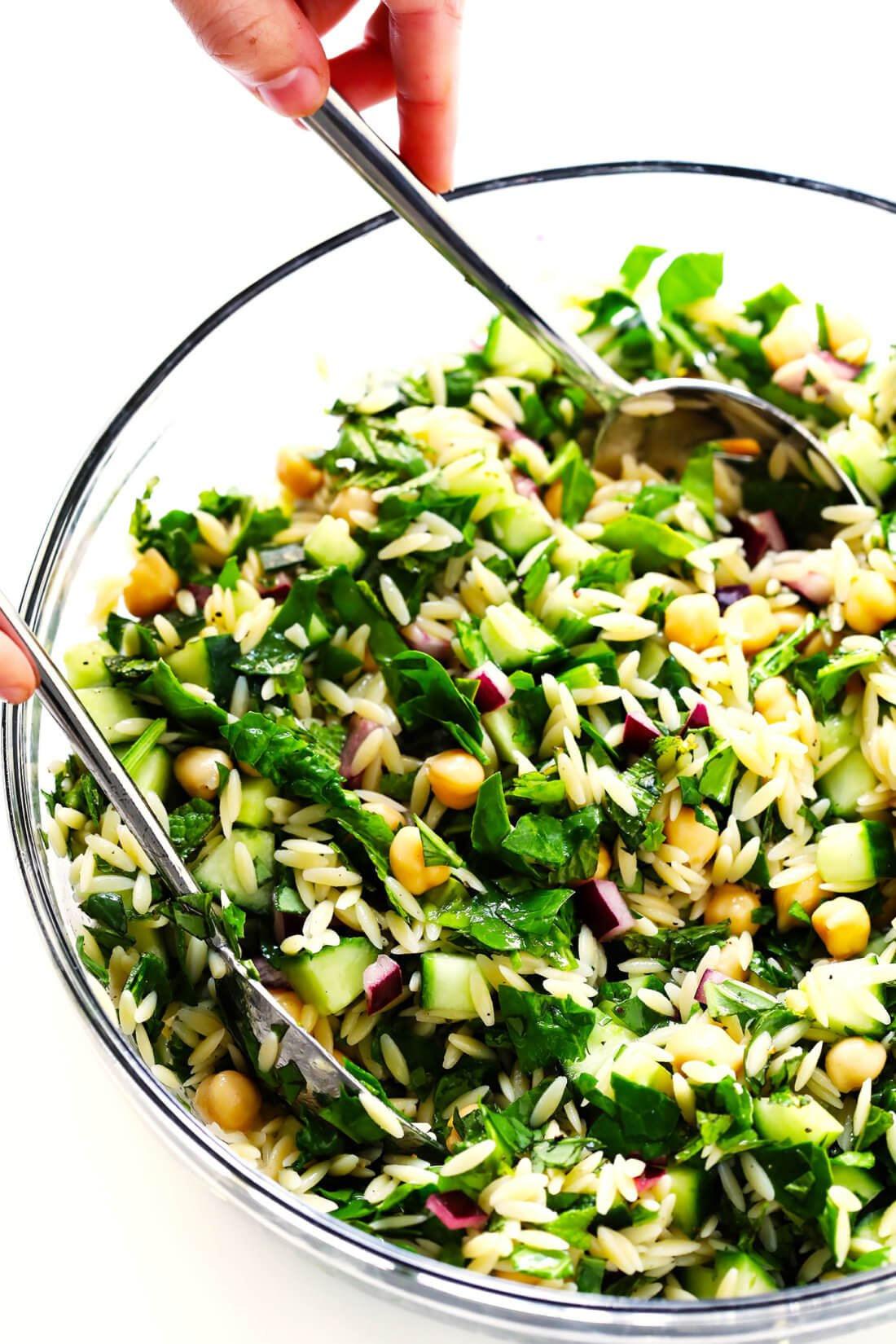 Herb Lovers Lemony Orzo Pasta Salad