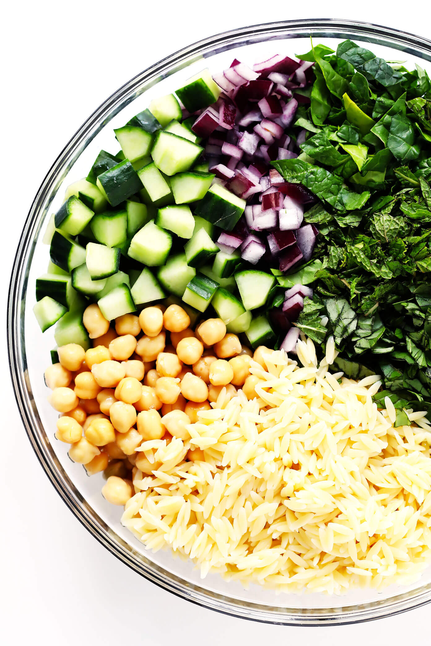 Herb Lovers Lemony Orzo Salad Ingredients