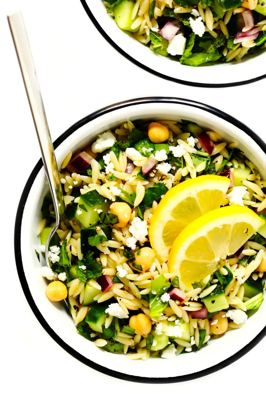 Herb Lovers Lemon Orzo Pasta Salad