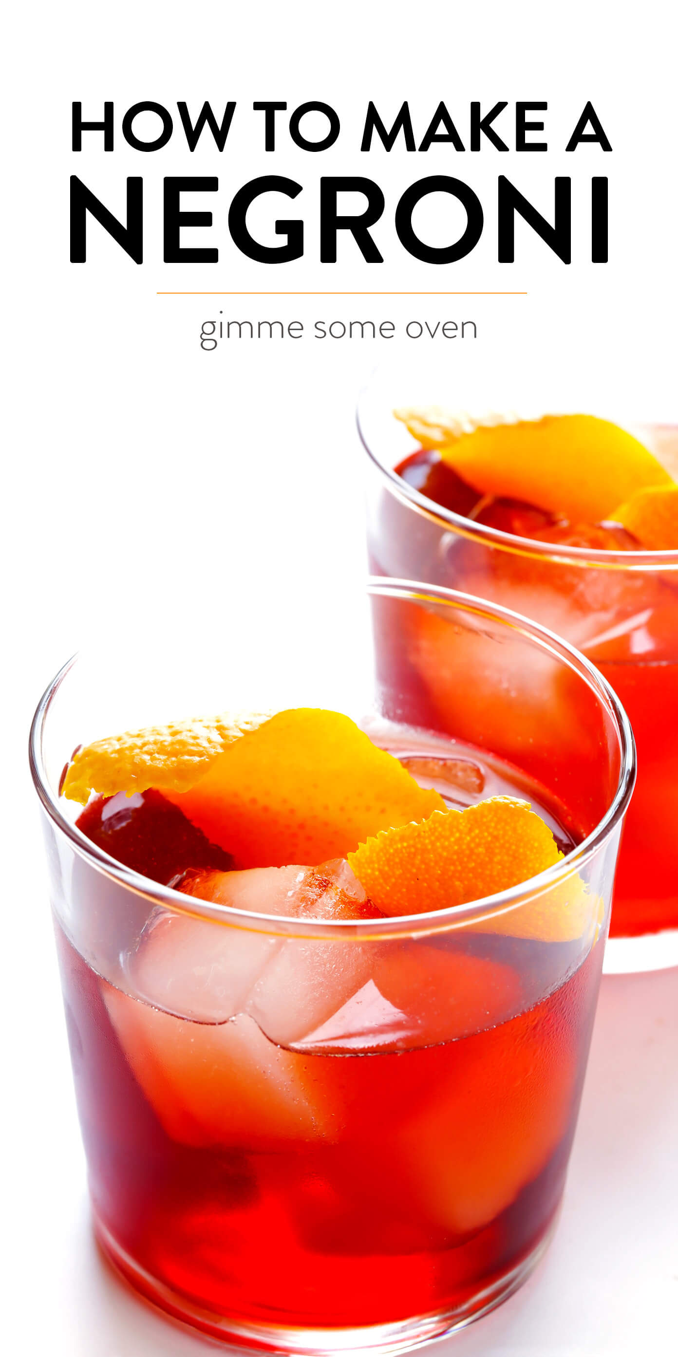 How To Make A Negroni Cocktail with Gin, Vermouth and Campari