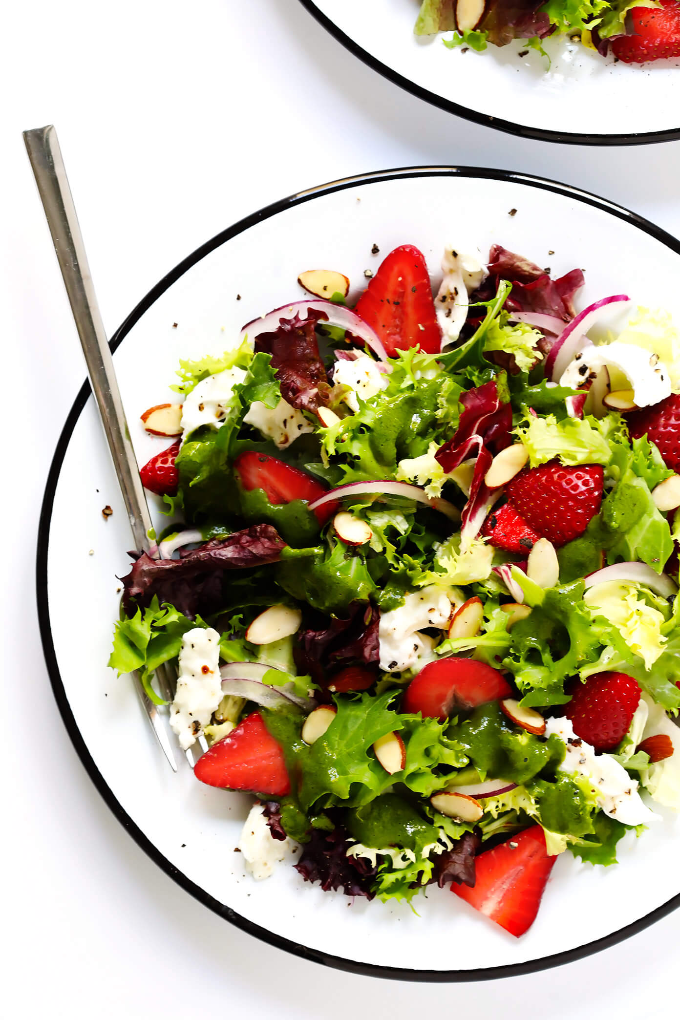 Summer Strawberry Burrata Salad with Italian Vinaigrette