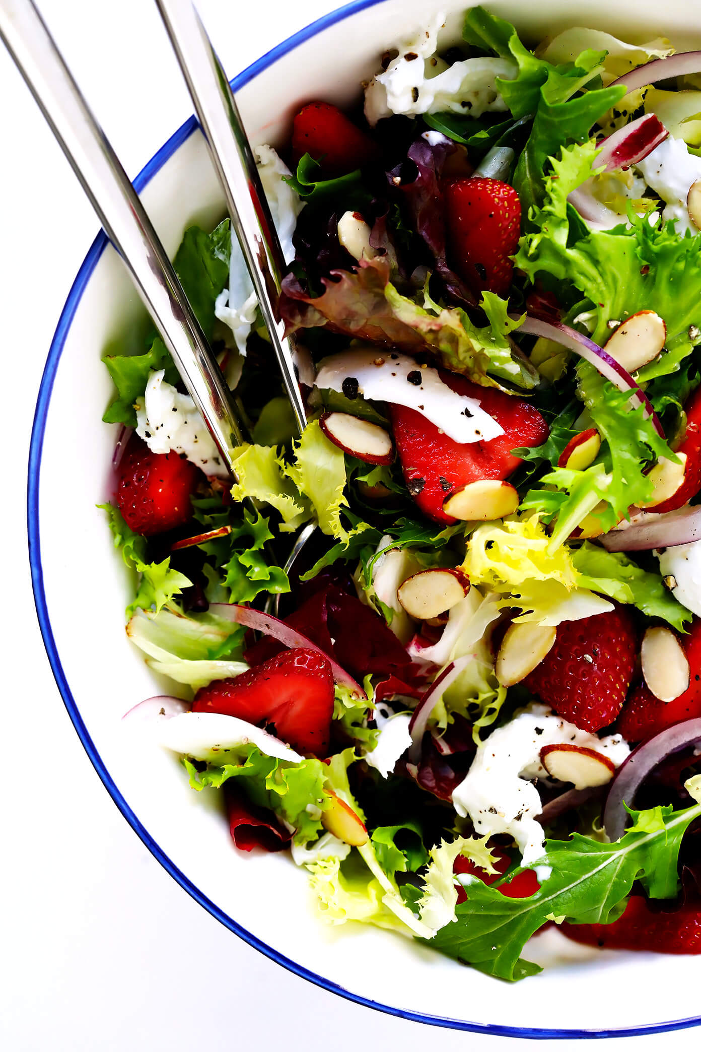 How To Make Strawberry Burrata Salad with Basil Vinaigrette