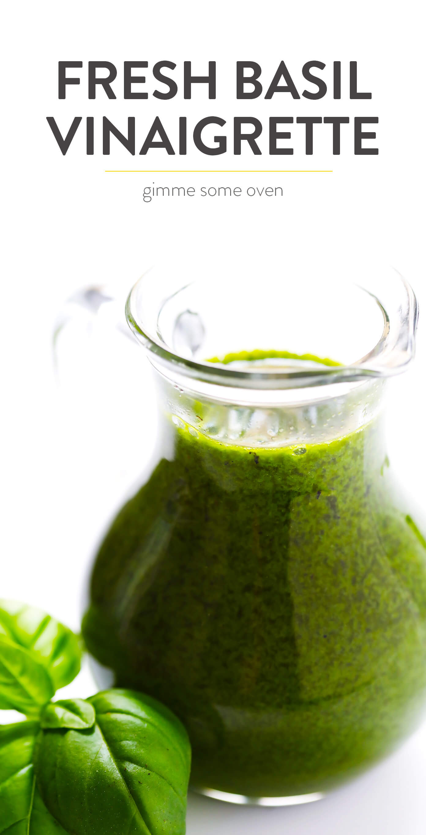 Basil Vinaigrette Recipe