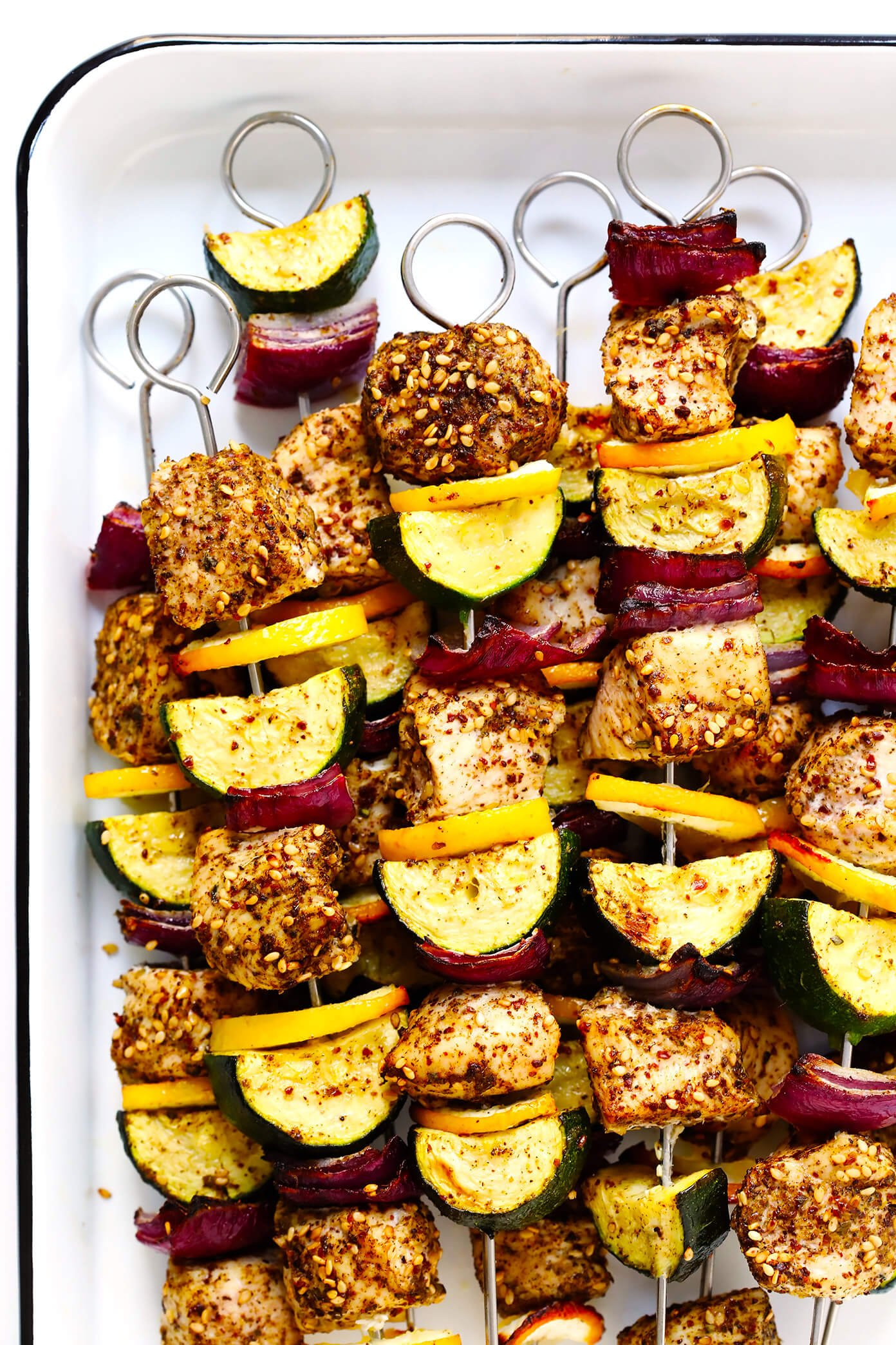 Za'atar Chicken and Vegetable Kabobs Recipe