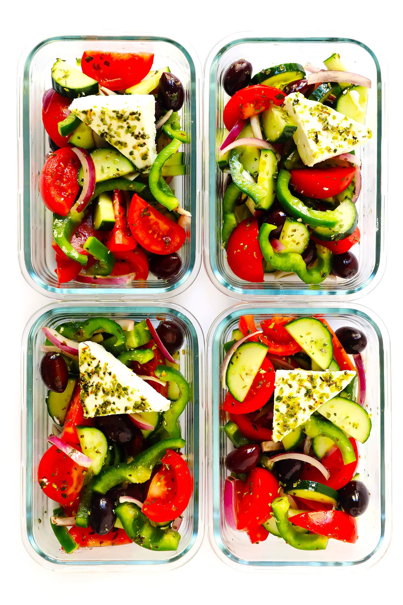 Greek Salad Easy Lunches Meal Prep