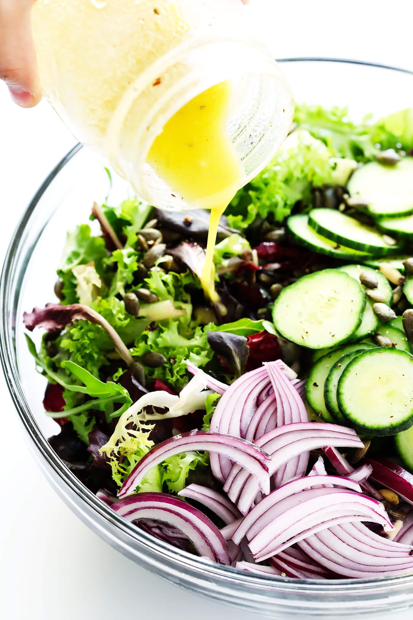 How To Make Our Everyday Salad with Lemon Dijon Salad Dressing