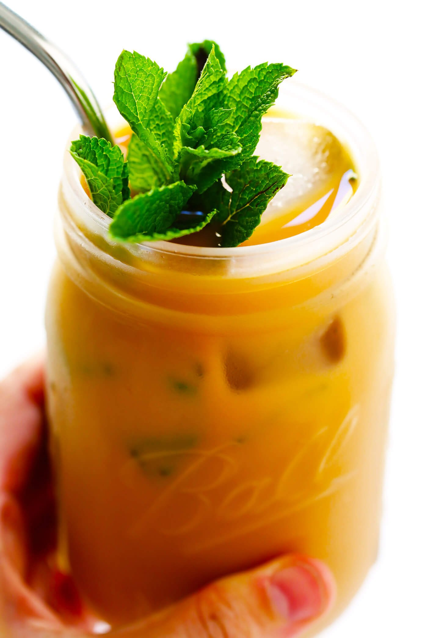 Mint Mojito Iced Coffee | Gimme Some Oven - TheDirtyGyro