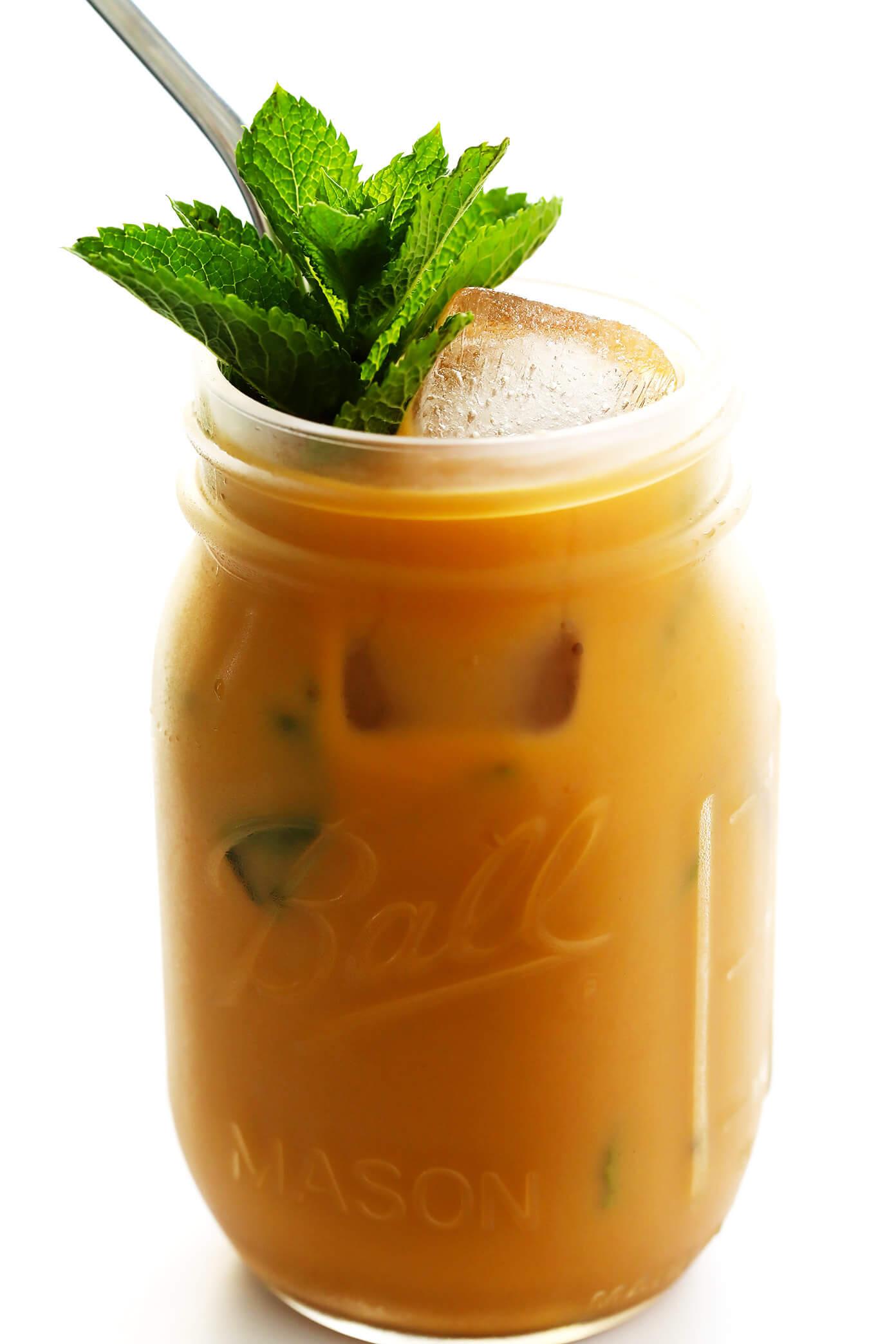 Copycat Philz Mint Mojito Iced Coffee